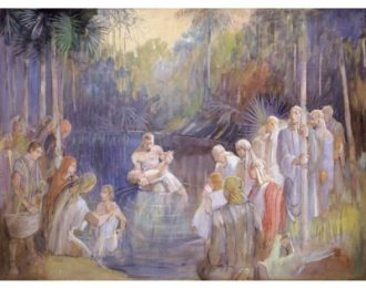 Alma Baptizes in the Waters of Mormon